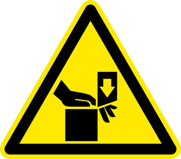 Amputation Warning Sign- Workers' Compensation